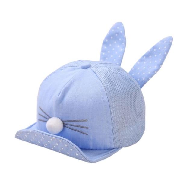 7444f24aa02b06 Newborn Fashion Summer Cute Toddler Girl Boy Rabbit Ear Cat Baby Hat Kids  Cat Caps Snapback Dots Cap M1