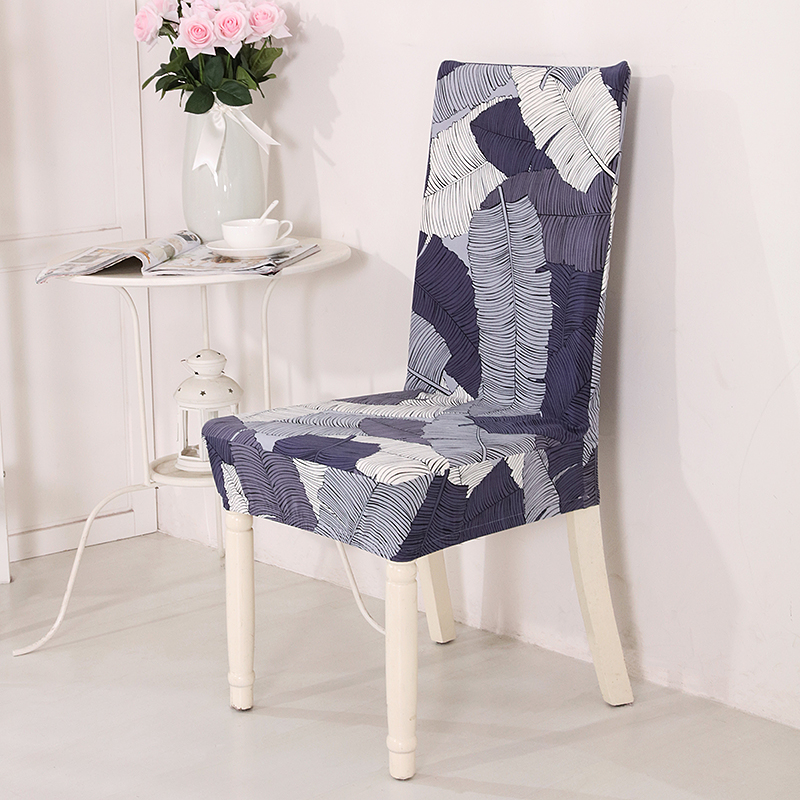 21 Printed Color Spandex Stretch Dining Chair Cover Restaurant For Weddings Banquet Folding Hotel Chair Covering 1PCS