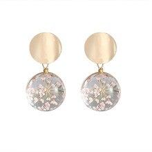Корейская мода Темперамент Дикие блестки стеклянный шар серьги Модные женские ювелирные изделия подарок оптом