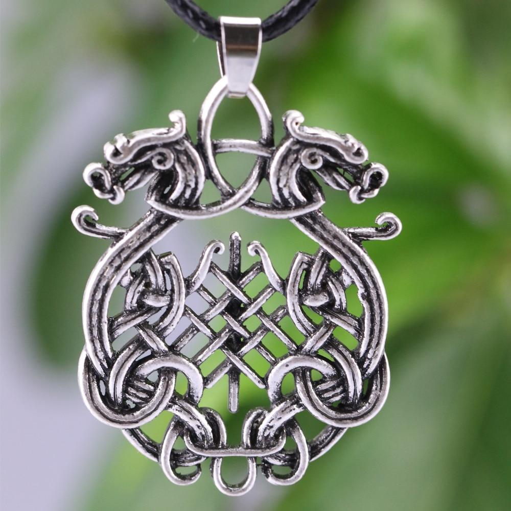 Nordic viking en acier inoxydable amulette Boussole Collier Pendentif Avec Sac Cadeau