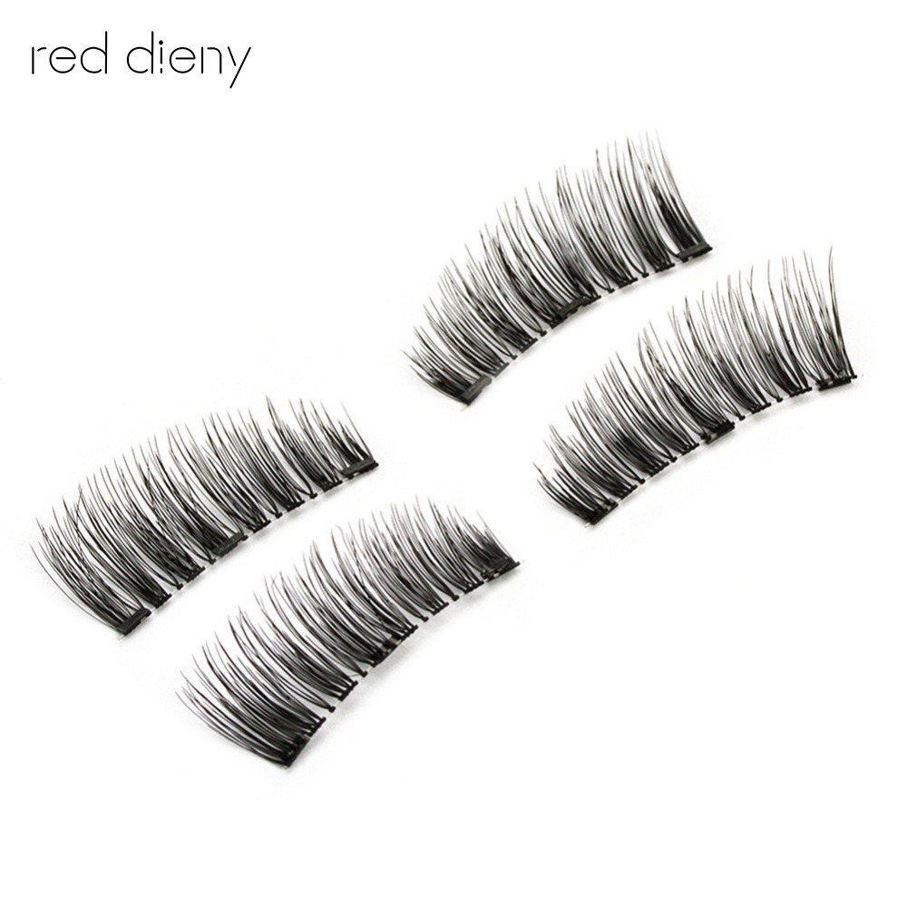 3 magnetic Natural False Eyelashes 6D Magnetic Lashes Double Magnet Fake Eye Lashes Hand Made Strip Lashes cilios posticos
