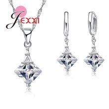 6ca0b3a7dc12 JEXXI de Torre Eiffel de circón cúbico de cristal conjunto de joyas de moda  para las mujeres