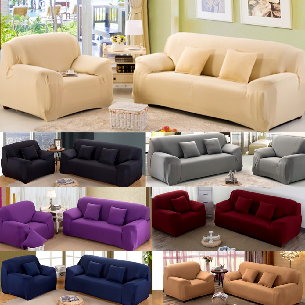 Modern Pure Color Fashion Sofa Covers For Living Room Sofa Cover Stretchable Sofa Cushion Washable Sofa