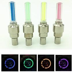 1 шт., новый светодиодный фонарь для велосипеда, колпачки для колес, колпачки для клапанов, Аксессуары для велосипеда, велосипедный фонарь, с...