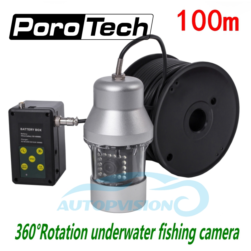 F08S 100m Fishing Camera Underwater Video Camera Sony CCD 1000TVL 360 degree Rotating Fishing Camera 18 Leds Fish Finder system 20m cable underwater fishing camera fish finder with 1 3 sony ccd effio e 12pcs white leds camera night vision rotate 360 degree