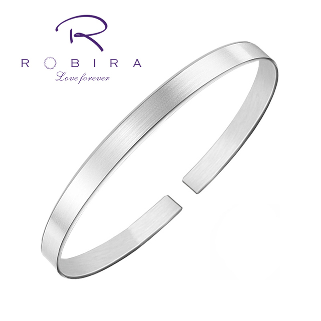 Robira Starry Bangle  999 Fine Silver Simple Bracelet Cuff Jewelry Women New Jewelry Fashion Retro High-Quality Bangles