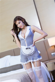 2019 Sexy Lingerie Cosplay High Quality Apron Maid Sexy Costume Babydoll Dress Uniform Women Lace Miniskirt Outfit 4