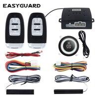 Qualität EASYGUARD universal pke auto alarm system passive keyless entry und push taste start/stop remote motor starten dc12V-in Alarmanlage aus Kraftfahrzeuge und Motorräder bei