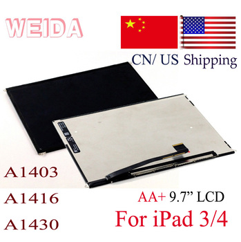 WEIDA LCD Replacement 9.7 For iPad 3 LCD A1403  A1416  A1430 Display Screen Panel Without Touch for iPad 4 A1460 A1459 A1458 factory quality ips lcd display 7 85 for supra m847g internal lcd screen monitor panel 1024x768 replacement