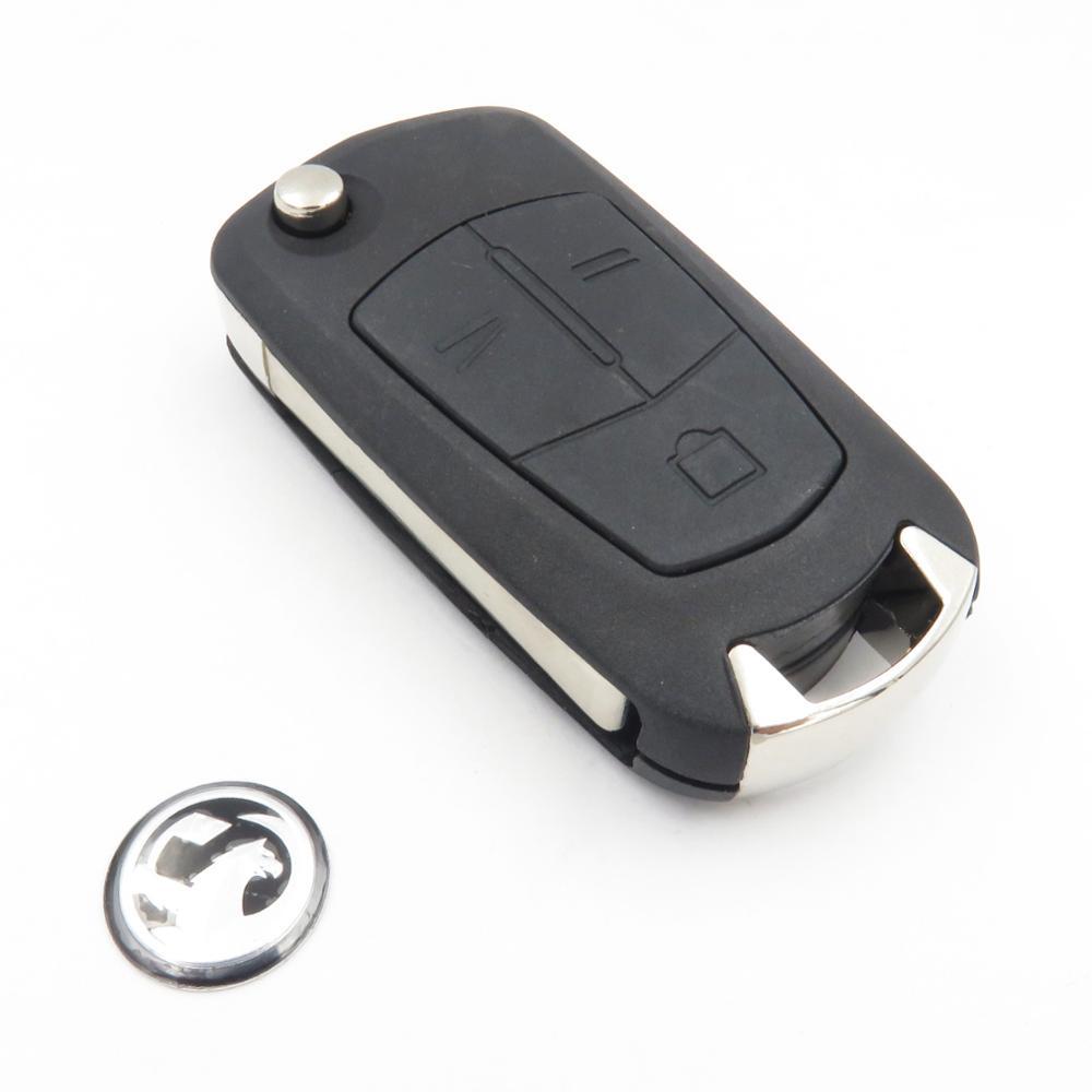 Prix pour Flip Clé Shell Fit Pour Vauxhall Opel Corsa Vectra Signum 3 Bouton Clé De Voiture Auto Shell De Remplacement Sur Système D'allumage