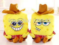 Wearing A Hat SpongeBob Plush Toys Plush Pillow Cushions Two Styles Sponge Bob Christmas Gift For