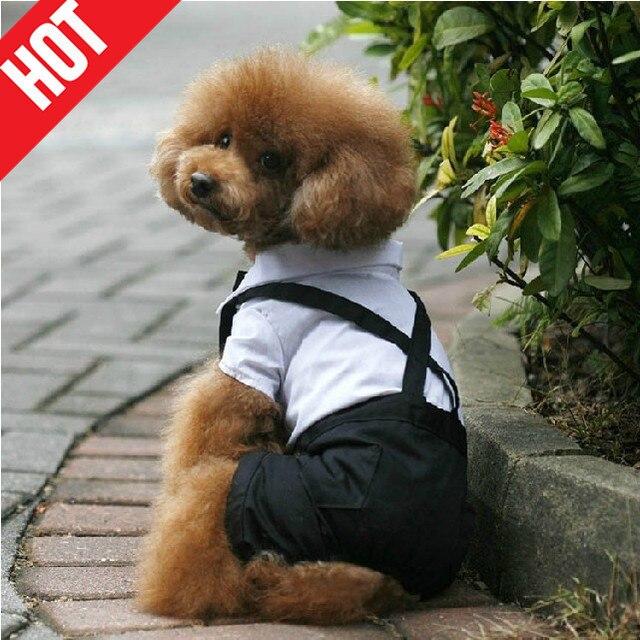 NEW white cotton dogs wedding dress dog dog tuxedo jumpsuit ropa ...