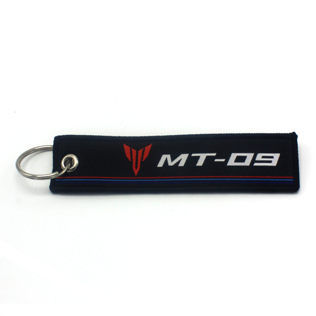 For Yamaha MT-09 MT-07 MT-03 MT-01 MT-25 MT-125 MT-10 NEW Motorcycle Key Chain Woven Key Ring Tag Label Chain Black Car Keychain