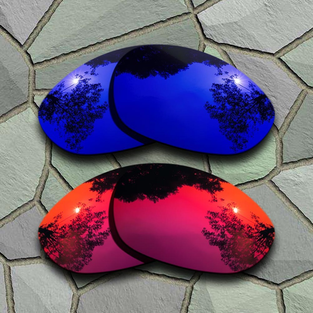 Violet Blue&Violet Red Sunglasses Polarized Replacement Lenses For Oakley X Metal XX