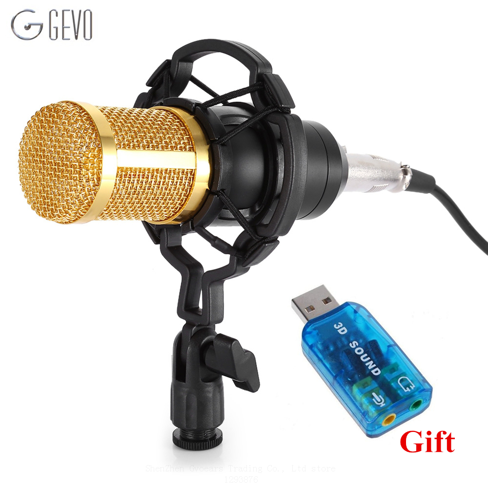 BM 800 Condenser Microphone Professional 3.5mm jack Wired Computer Microphone BM-800 With Shock Mount For Studio Audio Recording dr 880 high quality professional condenser sound recording microphone with shock mount for radio braodcasting singing black
