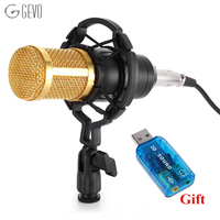 2016 NEW BM800 High Quality Professional Condenser Sound Recording Microphone With Shock Mount For Radio Braodcasting