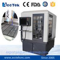 AccTek ad alta precisione 3d fresatrice cnc per metallo/macchina del router di cnc per legno incisione
