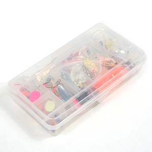 Image 5 - 101 adet cazibesi kiti Set Spinner Crankbait Minnow Popper VIB yumuşak sert kaşık krank yemler balıkçılık kanca olta kutusu aksesuarları