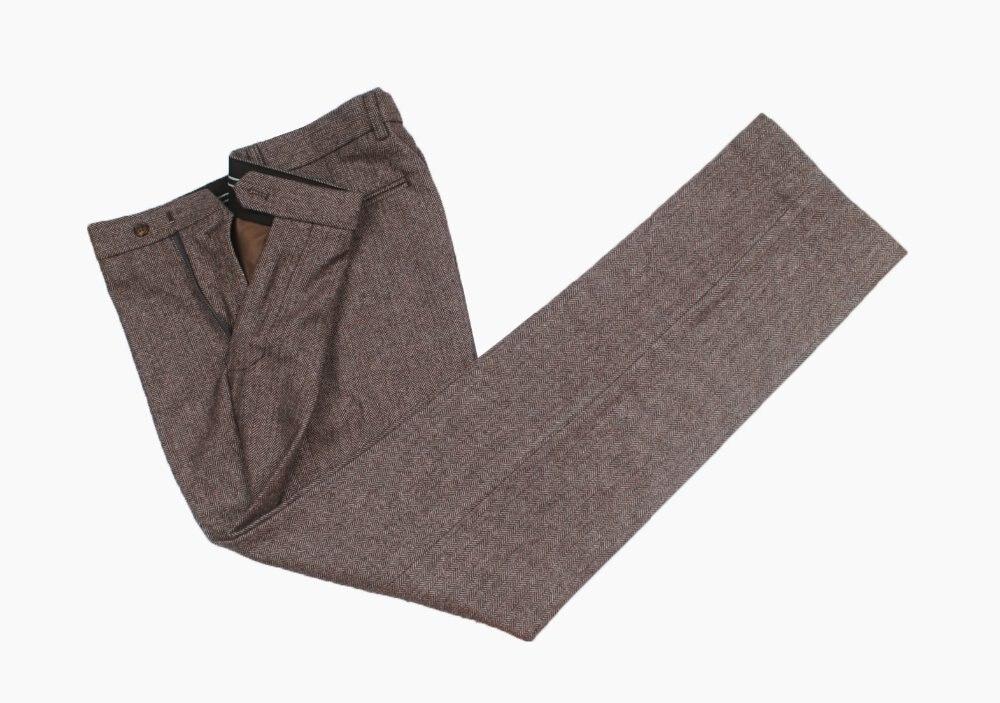Custom Made Wollen bruin Visgraat Tweed Britse stijl Mannen broek tailor slim fit wedding mannen broek + houtskool/grijs kleur tweed-in Broek pak van Mannenkleding op AliExpress - 11.11_Dubbel 11Vrijgezellendag 1