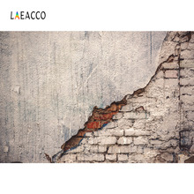 Laeacco Old Grunge Peeled Cement Brick Wall Portrait Photography Backgrounds Customized Photographic Backdrops For Photo Studio