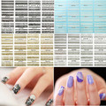 4 sets Lace Series White/Black/Gold/Silver 3d Flower Nail Art Stickers Decals DIY Stylish Nail Tip Decoration Tools HBJY001-018