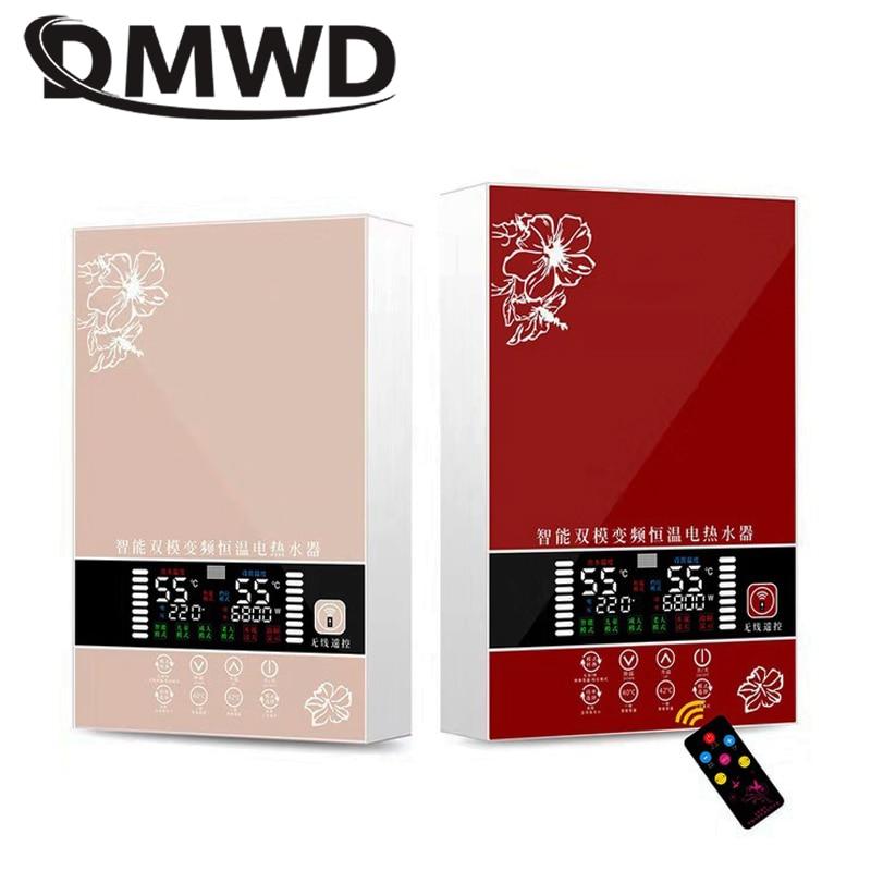 DMWD 5500 W chauffe-eau instantané électrique salle de bains cuisine instantanée sans réservoir robinet chauffage douche LED affichage de la température