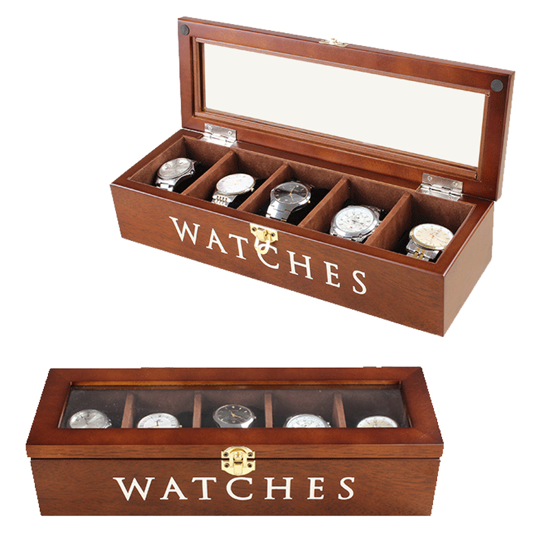 2019 New 5 Grids Wooden Watch Boxes for Hours Sheath for Hours Box for hours Watch 61 hours