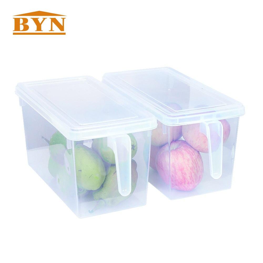 2PCS/PACK Kitchen Fruits Storage Rack Organizer Multi functional Vacuum Storage Basket Organizer For Food Storage DQ9021 1