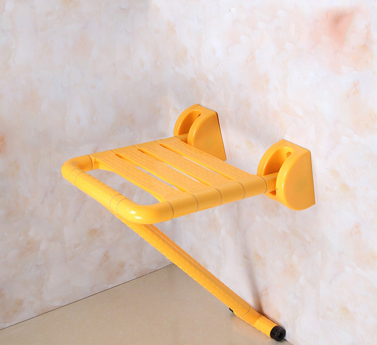 New Folding Bath Shower Seat Wall Mounted Relaxation Shower Chair Solid Seat Spa Bench Toilet Stool Bath Wall Chair baby seat inflatable sofa stool stool bb portable small bath bath chair seat chair school