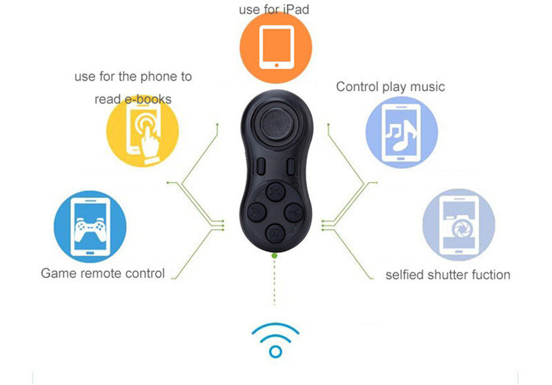 YOTEEN Bluetooth Gamepad iOS Android VR Game Controller Joystick Selfie Shutter Remote Control for Phone PC TV box Smart TV Game 5