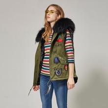 winter jacket women's Fur coat female embroidery jacket large natural natural fur raccoon Fur collar fur jacket rosenberg page href