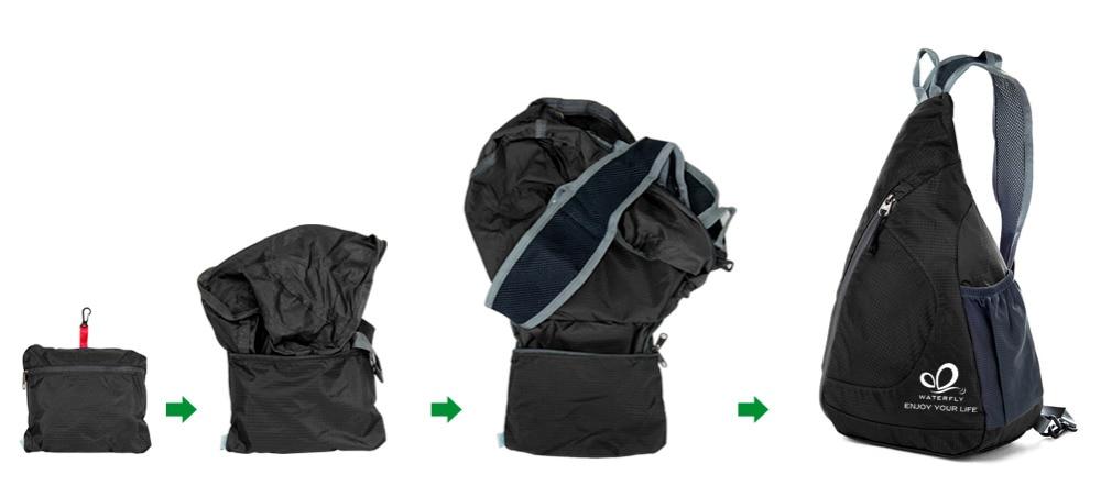 Сән One Shoulder Backpack Ашық Үшбұрыш Тренді - Спорттық сөмкелер - фото 6