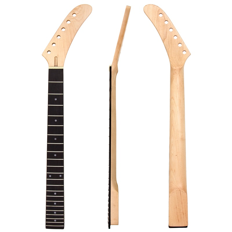 Banana Maple Guitar Neck Dot Inlay 22 Frets For Guitar Replacement Parts White Dots