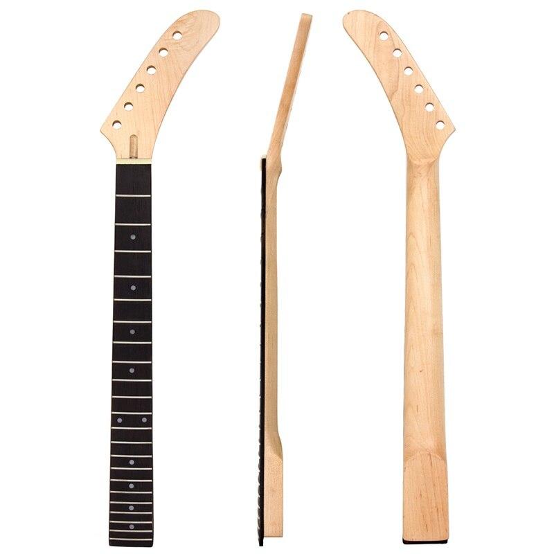 Банан клен гитара Шея точка инкрустация 22 лада для запасные части для гитары белый горошек|dot inlay|22 fretsmaple guitar neck | АлиЭкспресс