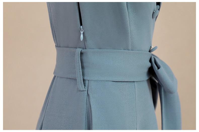 Spring and Autumn 2019 New Women's Dresses Korean Edition Long Sleeve Dresses Overlap Long Popular Temperament with Bottom 152