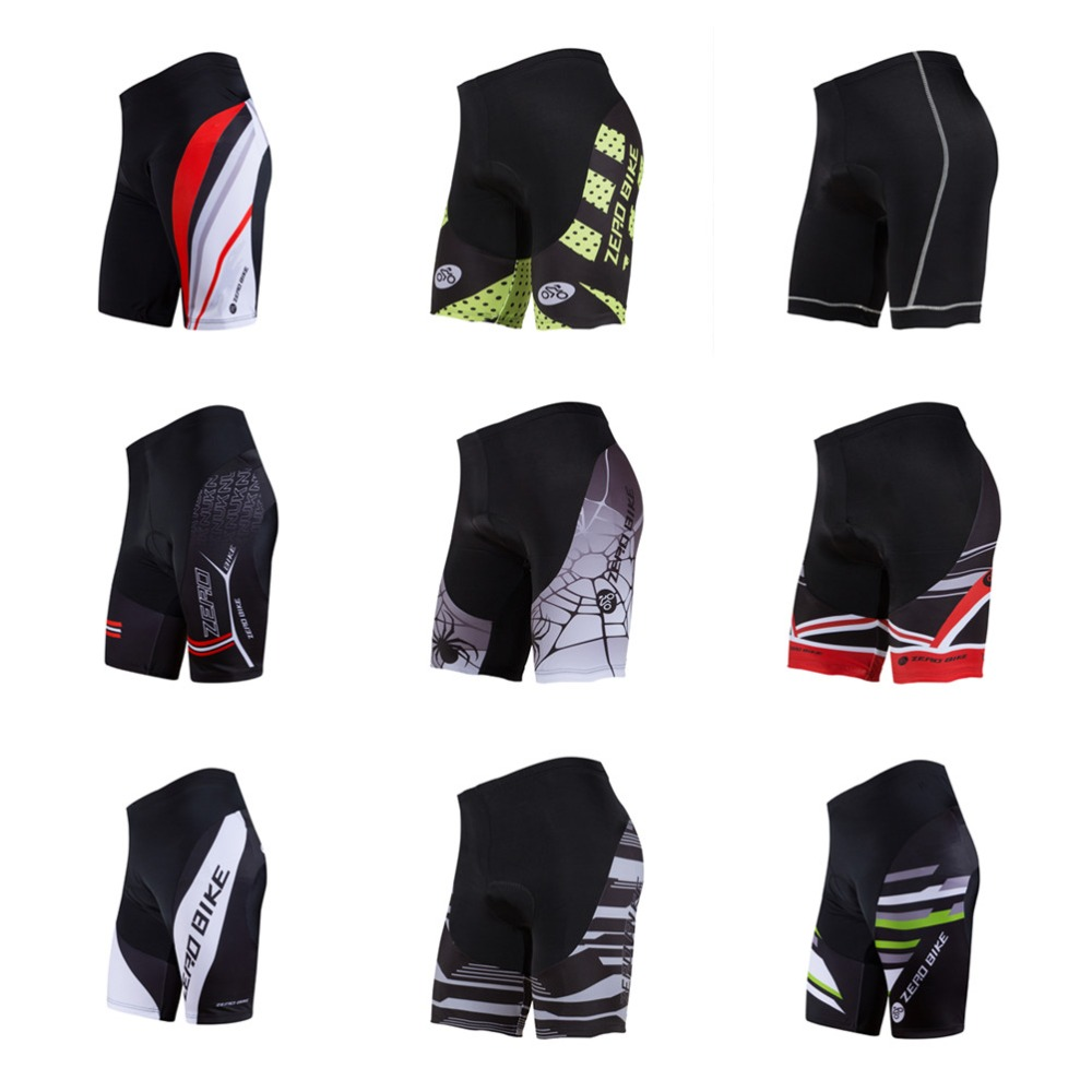 2017 ZERO BIKE Men's Cycling Shorts MTB Bike Bicycle 3D Padded Gel Tights Shorts Summer bermuda ciclismo M-XXL 9 Style