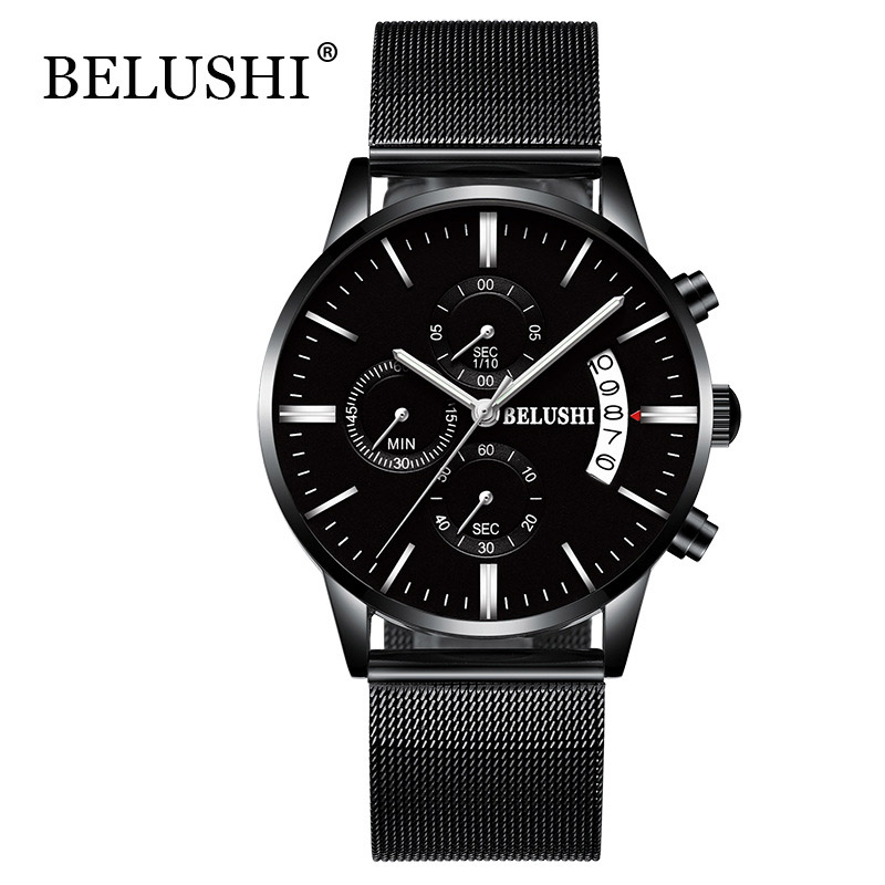 Mens Business Watch Top Brand Luxury Full Steel Waterproof Quartz Sport Wrist Watch Men Clock Male relogio masculino saat