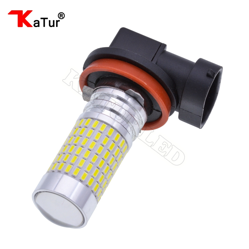 1pcs H11 H16 LED Bulbs 1500 Lumens Extremely Bright 144-EX Chipsets H8 with Projector for Fog Lights, 6000K White Led