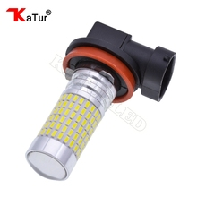 1pcs 1500 Lumens Extremely Bright 144-EX Chipsets H8 H11 LED Bulbs with Projector for DRL or Fog Lights, 6000K Xenon White цены