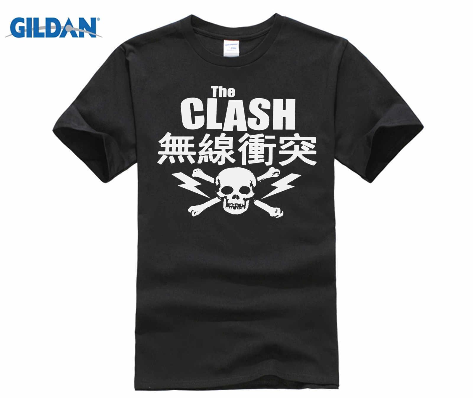7120c908 casual t-shirt Fashion Men And Woman T Shirt Free Shipping The Clash  Japanese Skull