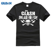 casual t-shirt Fashion Men And Woman T Shirt Free Shipping The Clash Japanese Skull T-Shirt - Ska New Wave Punk Post