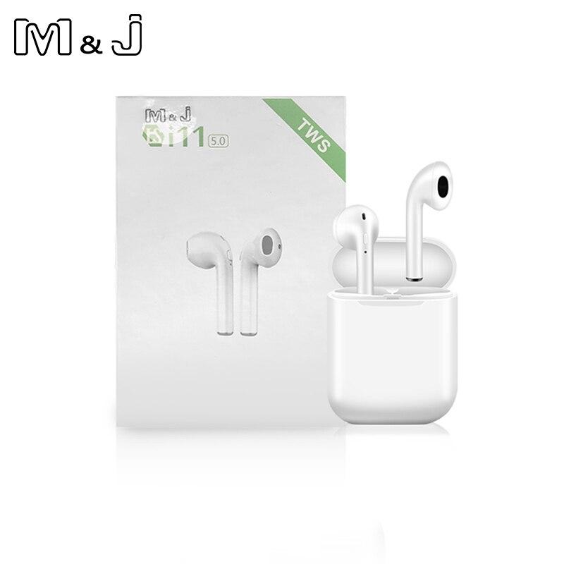 I11 TWS inalámbrica estéreo auriculares 1:1 Bluetooth 5,0 auriculares emparejamiento automático de deportes auriculares para Iphone Android Huawei no i9s i10 i13