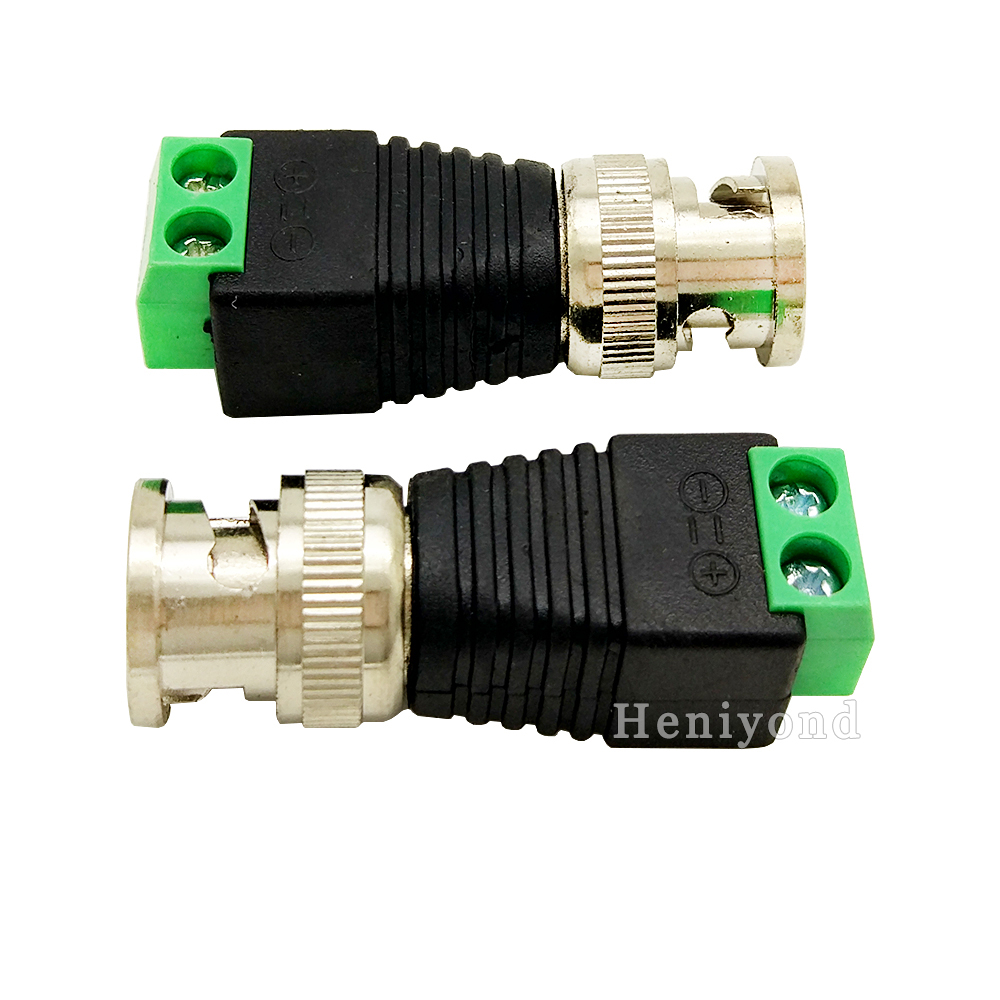 10Pcs BNC Male Connector Coax CAT5 To Camera CCTV BNC UTP Video Balun Adapter Connector  BNC Plug For CCTV System Free Shipping