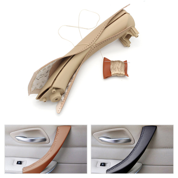 Hand sewing Micro Leather Right /left Door Panel Handle Pull Trim Cover Inner Handle Cover For BMW 3 Series E90 E91 325 330 318