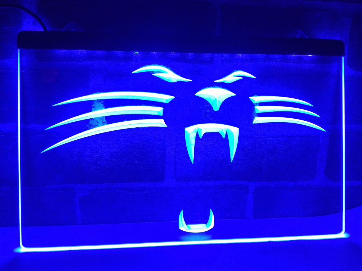 La122 Carolina Panthers Football Bar Led Neon Light Sign