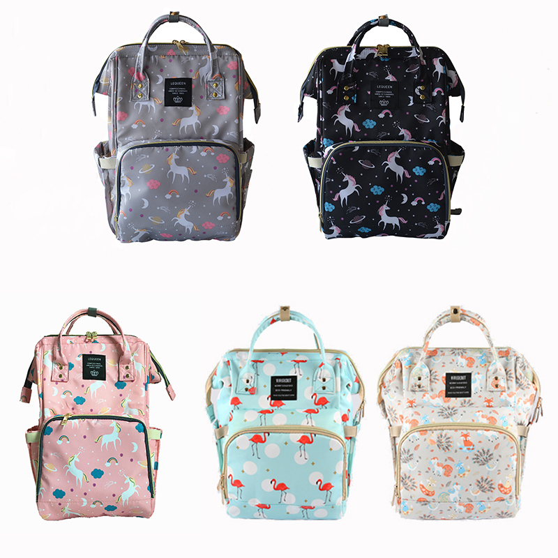 цена Fashion Mummy Travel Backpack Maternity Nappy Bag Large Capacity Baby Bag Designer Nursing Bag Baby Care