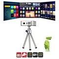 E05 Мини Карманный Проектор DLP Android 4.4.4 RK3128 Quad Core 1500 люмен 854x480 Pixels 1080 P HD Media Player Поддержка Wi-Fi BT