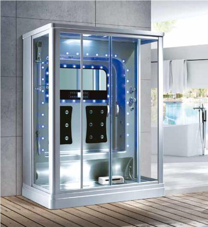 1600X1000X2200mm Bathroom Wall Against Steam Shower Enclosure Mult-Functional Computer Control Wet Sauna Room 7049 luxury steam shower enclosures bathroom steam shower cabins jetted massage walking in sauna room rs550