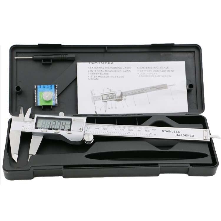 Werkzeuge 1 Stück Präzision 150mm 6 Inch Digitale Elektronische Manometer Edelstahl Messschieber Mikrometer