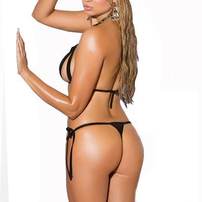Sexy Pink/Black String Micro Bikini Brazilian Mini Bikinis 2017 Women Sunbath Biquini Swimsuit string thong Bathing Suit HW1672